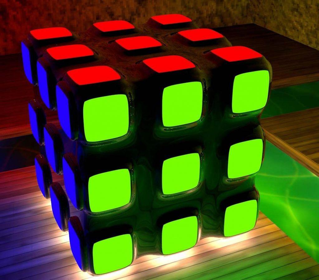 حل کردن رنگهای یک مکعب
